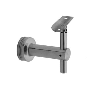 "Bracket For Round Profile Handrail (Round Profile, Angle & Height Adjustable, Glass Mount) (2"" tubing)"