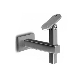 Square Line Adjustable Handrail Bracket Wall To Flat Material