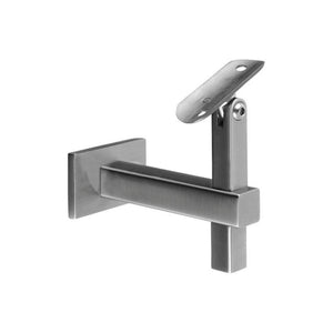 Square Line Adjustable Handrail Bracket Wall To 1.5'' - 38mm Tube Material