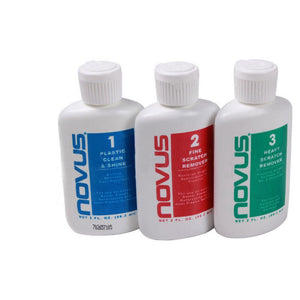 Novus 1, 2, 3 Polishing Kit For Plastic - 2 oz.