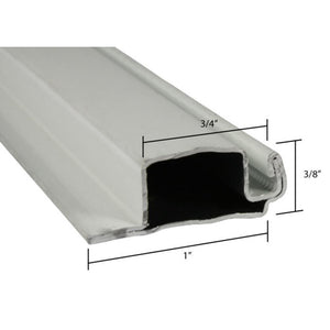 "Screen Frame 3/8"" x 1"" Lip Roll Formed Aluminum Flanged White"