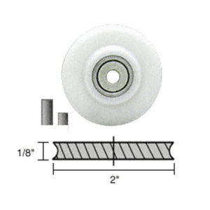 "Screen Roller Nylon Concave Edge Replacement Wheel; 2"" x 1/8"