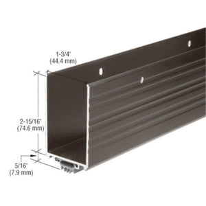 Dark Bronze Anodized Finish Wrap Around Door Shoe With Vinyl Weatherseal Brown
