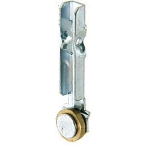 "Sliding Window 1/2"" Flat Edge Brass Roller With Stamped Steel Bracket for International Windows"