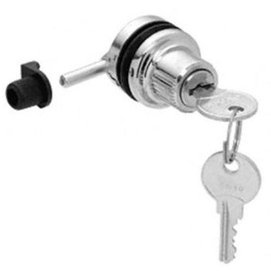 Showcase Through Glass Chrome Plunger Lock