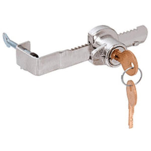 "Adjustable Sliding Glass Showcase Door Lock with Thumb Screw Adjustment 1/2"" Thick Door"