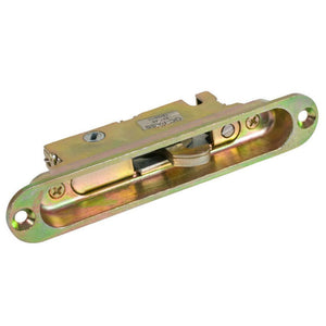 "Mortise Lock and Keeper 1"" Wide With 5-1/4"" Screw Holes With 45 Degree Keyway"