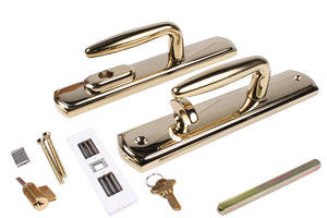 Truth Hardware Multi-Point Bright Brass Door Handle