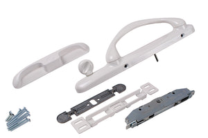 Sliding Glass White Patio Door Right Handle Set - Handle Height 2""