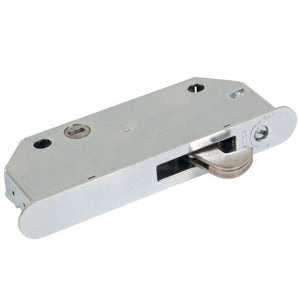 Stainless Steel Mortise Lock 1/2' Wide With 2-9/16 Screw Holes and Vertical Keyway