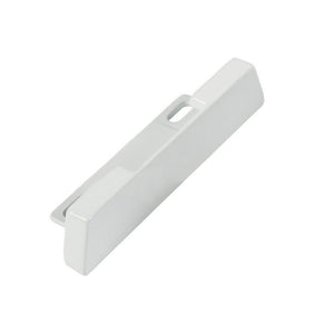 "Patio Door 15/16"" Wide Strike With 2"" Screw Holes - White"