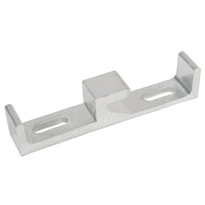 "Patio Door Zinc 1/2"" Wide Lock Keeper With 1-3/4"" Screw Holes"
