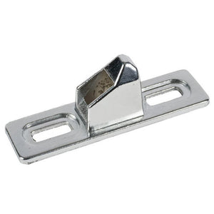 "Patio Door Chrome 3/4"" Wide Lock Keeper With 1-3/4"" Screw Holes For Indal Doors"