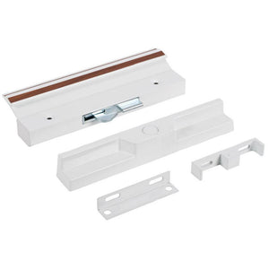 "Sliding Glass Patio Door Surface Mount Aluminum Hook-Style Handle 4-15/16"" Screw Holes - White"