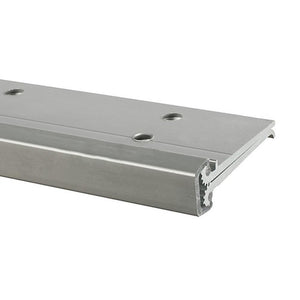 "Full Mortise 83"" Concealed Leaf Hinge With Lip For 1-3/4"" Entry Door Standard Aluminum"