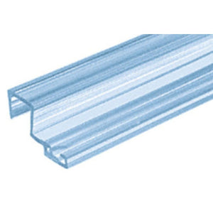 "Shower Door ""U"" Polycarbonate Seal Strike With Leg and Insert at 90 Degrees"