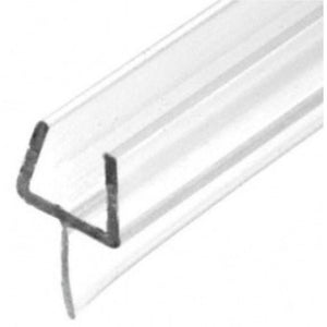 "Shower Door One-Piece Bottom Rail With Clear Wipe - 98"" Long"