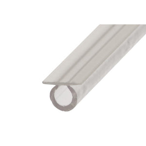 "Shower Door 7/32"" Translucent Vinyl Bulb Seal with Pre-Applied Tape"