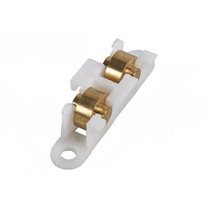 "Sliding Window Roller with 3/8"" Nylon Wheel for House of Aluminum Windows - Brass Roller"