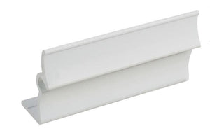 "Fixed 3"" Length; 1-3/8"" Height Panel Holder - White"