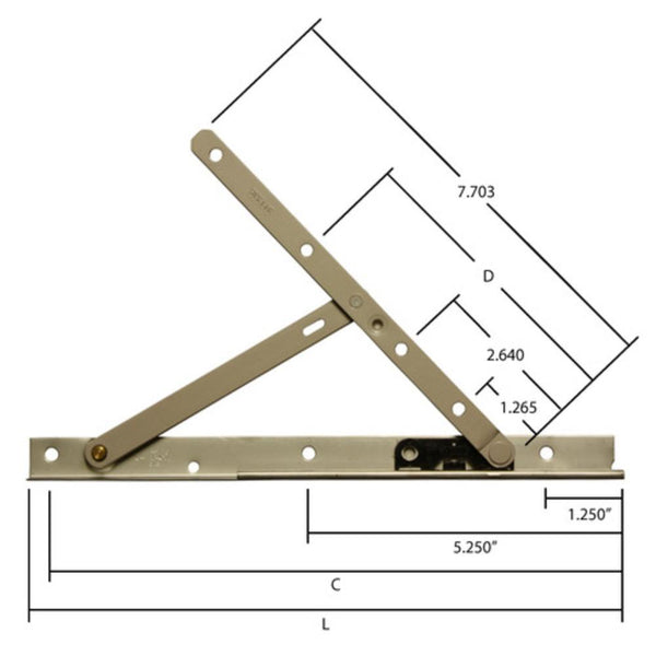 Truth Hardware 10 Quot Concealed Casement Window Hinges 14