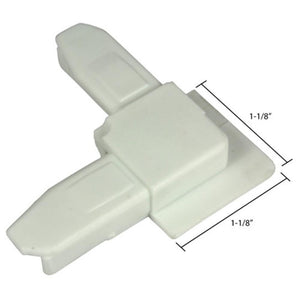 "Screen Frame 3/8"" Reverse Flange Corner White"