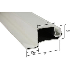 "Screen Frame 3/8"" x 1"" Casement Lip Roll Formed Aluminum Flanged White"