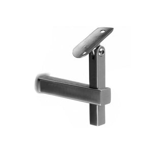 Square Line Adjustable Height & Handrail Bracket Steel Post To 1.5'' - 38mm Tube Material (Outdoor)