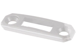 Truth Hardware Locking Handle Strike Plate - White