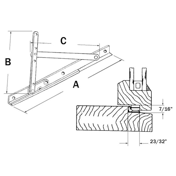 Truth Hardware 18 Quot Awning And Casement Window Hinge