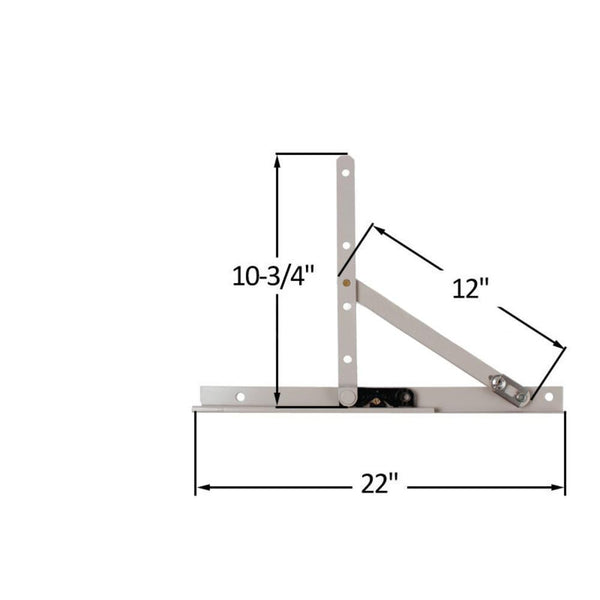 Truth Hardware 22 Quot Awning And Casement Window Hinge