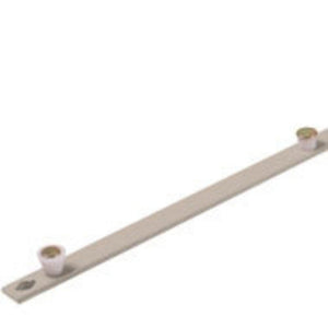 Truth Hardware 3 Roller 2 Cone Tie Bar for Interlock Cone Roller System - 26.9""