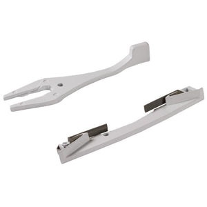 "Truth Hardware ""Mirage"" Handle & Escutcheon for Concealed Multi-Point Lock - White"