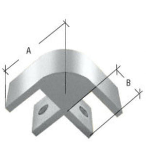 "Two-Way 90 Degree Standard Connector for 1/2"" Glass"