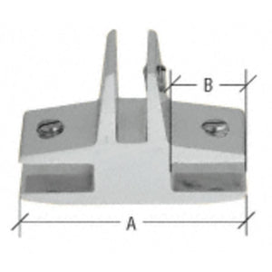 "Anodized 3-Way 90 Degree ""T"" Standard Connector for 3/8"" Glass Chrome"