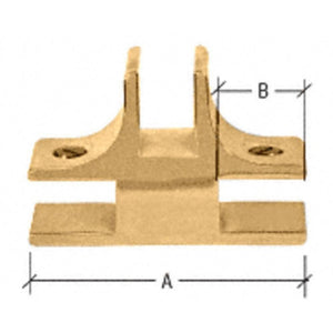 "1-1/2"" Long 3-Way 90 Degree Deluxe Glass Furniture Connector for 3/4"" Glass Brass"