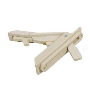 "Casement Window Multi-Point Locking Handle with 3-5/16"" Screw Holes - Beige"