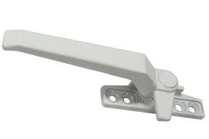 "Casement Window Left Hand Locking Handle With 2-1/4"" Screw Holes - White"
