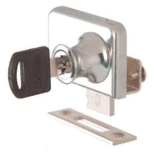 "Showcase Clamp-On Lock for 1/4"" Double Glass Door"