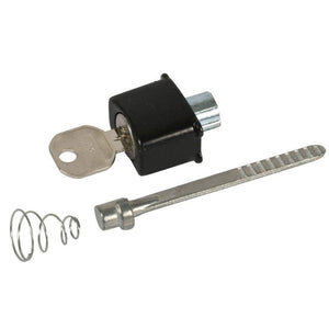 Storm Door Keyed Push Button Locking Unit