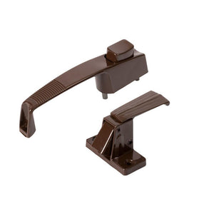 "Storm Door Push Button Latch With 1-3/4"" Screw Holes - Brown"