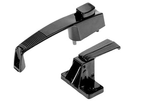 "Storm Door Push Button Latch With 1-3/4"" Screw Holes - Black"