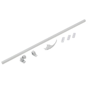 Screen and Storm Door Touch Bar Latch - White