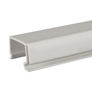Storm Door Tri-Lite Window Snap-In Channel - White