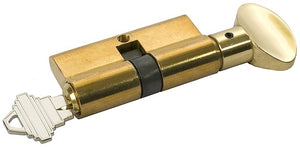 Storm Door Locking Cylinder - Brass - Square Shape