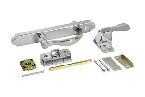Storm Door Keyed Latch & Lock - Brushed Nickle
