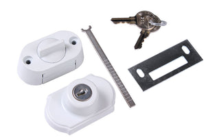 Storm Door Keyed Deadbolt - White