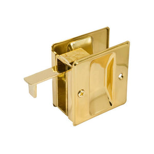 Pocket Door Brass Combination Pull