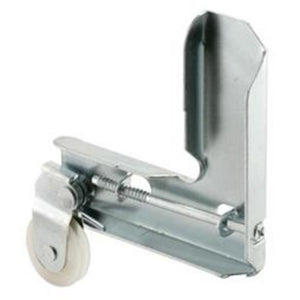 "Stamped Aluminum Corner Insert With 1"" Nylon Ball Bearing Center Groove Sliding Screen Door Roller for Metal Industry"