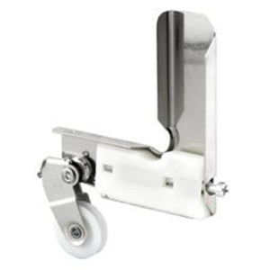 "Stamped Aluminum Corner Insert With 15/16"" Nylon Ball-Bearing Center Groove Sliding Screen Door Roller for Jim Walters"